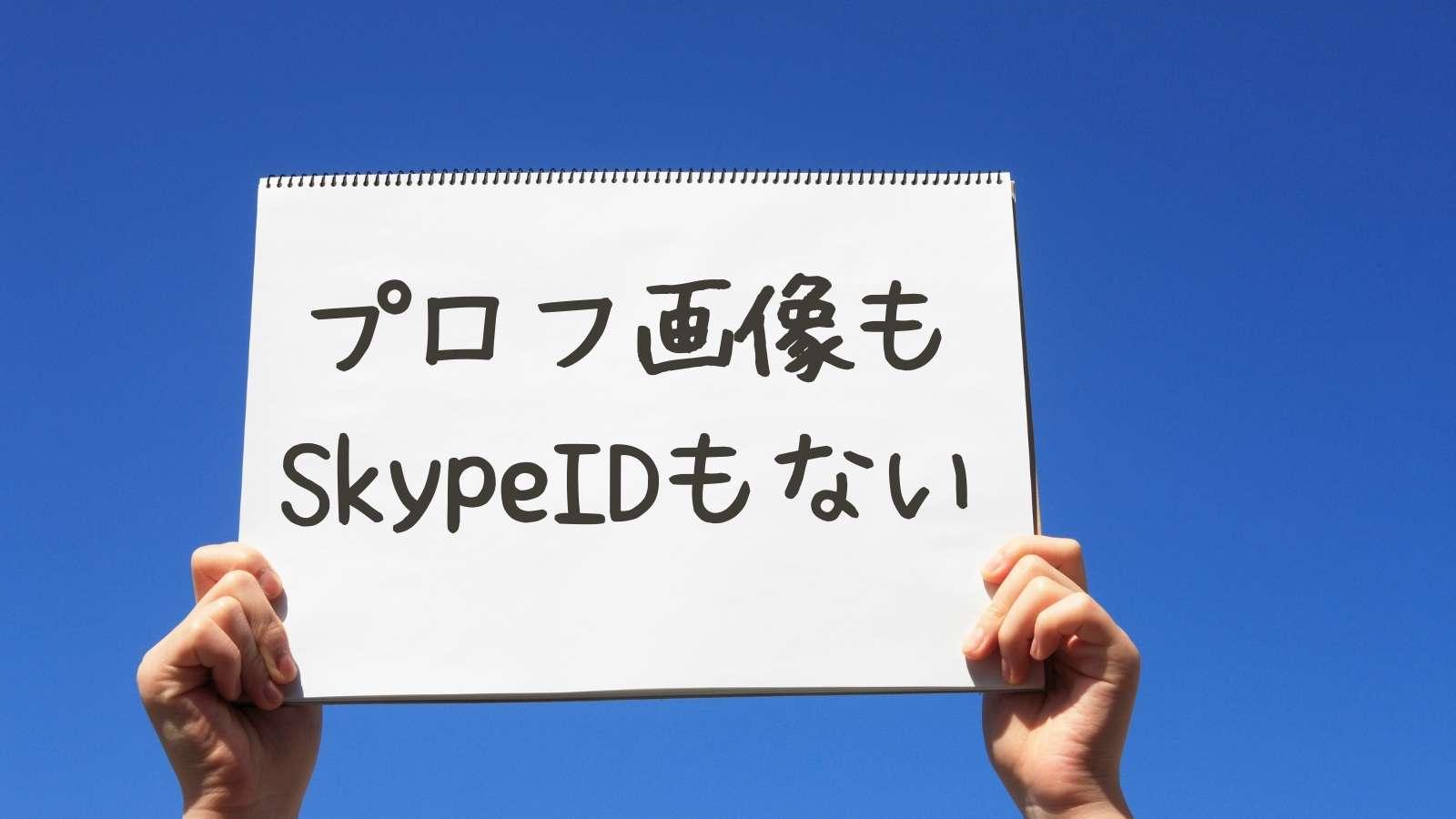 プロフ画像もSkypeIDもない